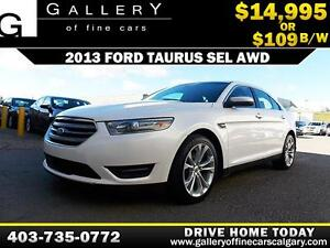 2013 Ford Taurus SEL AWD $109 bi-weekly APPLY NOW DRIVE NOW