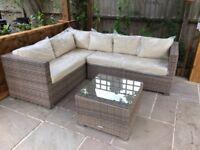 Rattan Garden Sofa, L Shape corner sofa