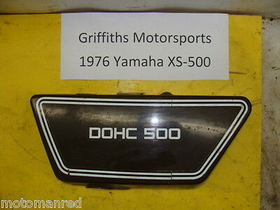 76 77 <em>YAMAHA</em> XS500 LEFT L LH SIDE PANEL COVER BODY PLASTIC NO CRACKS X