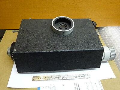 Microscope Part Vickers England Measuring Head Rare Uk Optics As Is 81-58