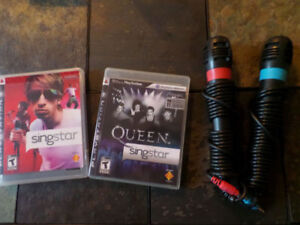 Playstation 3 Sing Star mic and 2 games