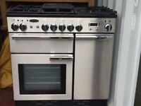 Rangemaster Professional Plus 90 Freestanding Oven - Dual Fuel Electric Oven Gas Hob Great Condition