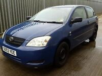 TOYOTA COROLLA 1.6 VVTI BREAKING FOR SPARES 2003 ONWARDS TEL 07814971951 WE HAVE FEW IN STOCK