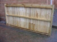 FULLY TREATED TIMBERS & FEATHER EDGE 6X3 FENCE PANELS