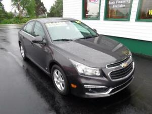 2015 Chevrolet Cruze RS for only $129 bi-weekly all in!