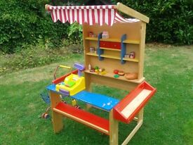 Wooden Play Shop, Trolley and Accessories