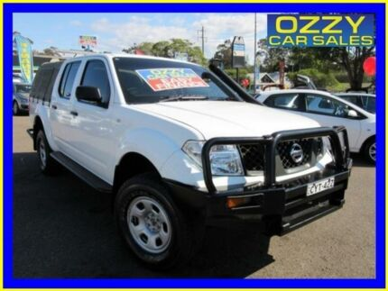 2006 Nissan Navara D40 RX (4x4) White 5 Speed Automatic Dual Cab Pick-up Penrith Penrith Area Preview