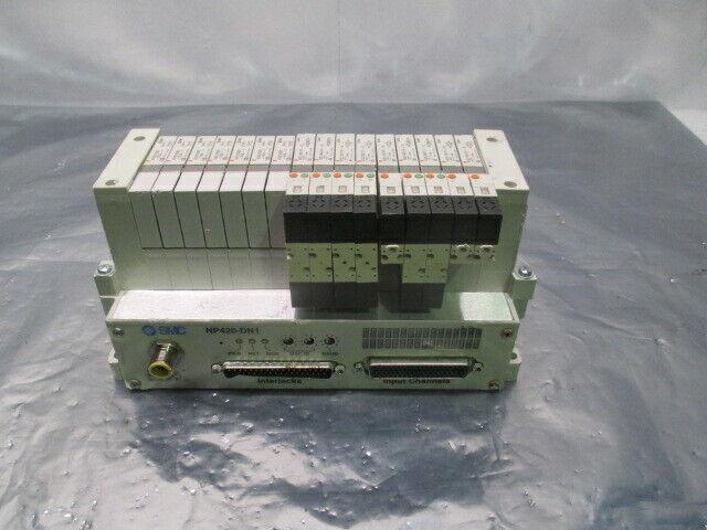 SMC VV5Q11-ULB990070, 16 Valve Pneumatic Manifold w/ NP420-DN1, 423500