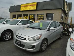 2012 Hyundai Accent LOW KM's *** GUARANTEED FINANCING
