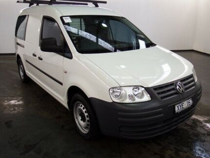 2010 Volkswagen Caddy 2K MY09 Maxi White 6 Speed Direct Shift Van Albion Brimbank Area Preview