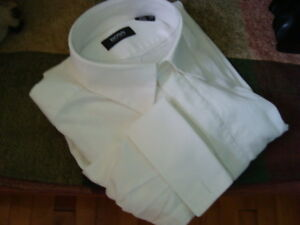 MEN'S HUGO BOSS WHITE DRESS SHIRT WITH FRENCH CUFFS