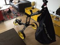 NEW GOLF TROLLEY BIG MAX Z 360 with cover never used
