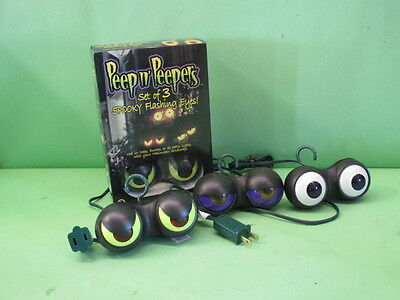 PEEP N PEEPERS Halloween Lights Outdoor Bushes Party Spooky Evil Eyeballs - Peeps Halloween