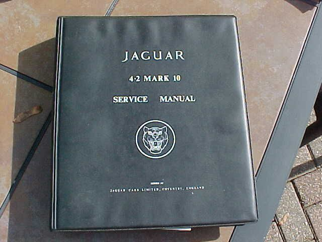 ORIGINAL VINTAGE JAGUAR 4.2 MARK 10 FACTORY SERVICE MANUAL