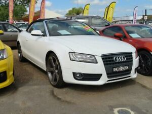 2012 Audi A5 8T MY12 S Tronic Quattro White 7 Speed Sports Automatic Dual Clutch Cabriolet Minchinbury Blacktown Area Preview
