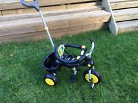 Raleigh buggy boys Trike, exc cond, black and yellow. £30