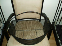 Black Wire Basket With Hooks And Handle