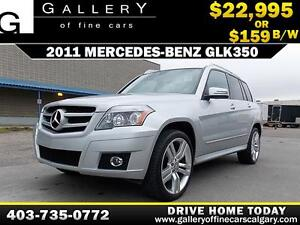 2011 Mercedes GLK350 $159 bi-weekly APPLY NOW DRIVE NOW