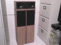 100W KEF Cresta Stereo Speakers + 120W Centre Speaker