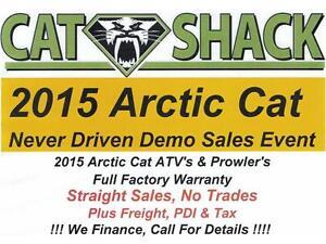 !!!! Arctic Cat Never Driven Demo Sale - ATV's & Prowler's !!!!