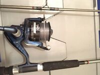Jarvis Walker Mirage EA 850 Spinning Reel, Shakespeare 240 (8ft) Spin and 11ft rod