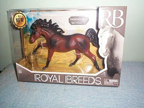 Royal Breeds Large Thoroughbred Plastic Model Horse Lanard Toys New In Box!