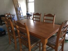 Dining Table & Six Chairs