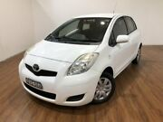 2010 Toyota Yaris NCP90R MY11 YR White 4 Speed Automatic Hatchback Kingsgrove Canterbury Area Preview
