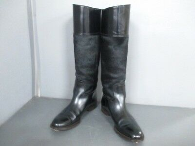 Auth GUCCI Black Spawn &  Leather Boots Women