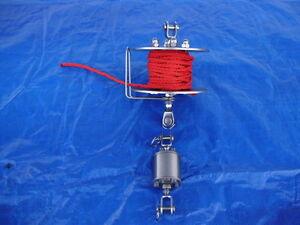 Fockroller/Furler+Toppwirbel  aus V2A 13 cm Durchm. 3 mm Mat.Stärke
