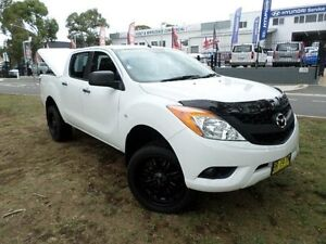 2012 Mazda BT-50 XT (4x2) White 6 Speed Manual Dual Cab Utility Belconnen Belconnen Area Preview