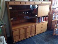 Large wooden display cabinet / storage unit