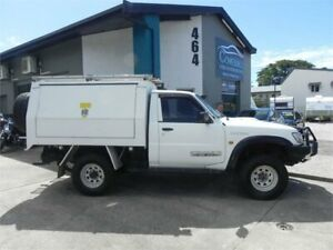 2005 Nissan Patrol GU DX (4x4) White 5 Speed Manual 4x4 Leaf Cab Chassis Earlville Cairns City Preview