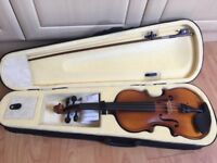 Ohuhu Full Size 4/4 Natural Violin Fiddle with Violin Case, Bow, Rosin and Bridge