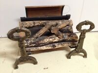 Heavy cast antique fireplace insert/electric fireplace 1940's