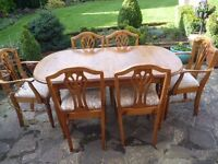 Ducal Solid Pine Extending Dining Table & 6 Chairs