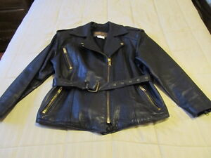 Male and female leather riding gear