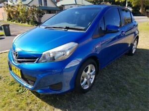 2013 Toyota Yaris NCP130R YR Blue 5 Speed Manual Hatchback Broadmeadow Newcastle Area Preview