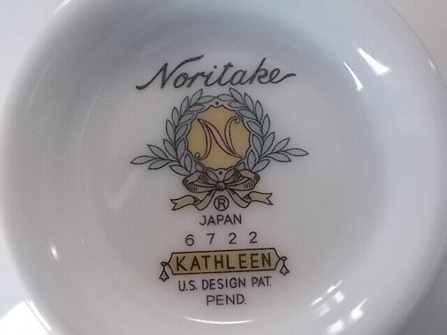 Noritake KATHLEEN Cup 6722 Blue Floral Flowers Silver Trim Japan - $4.50