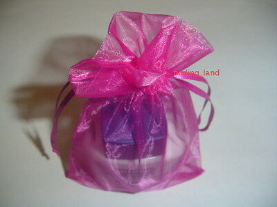 Hot Pink Ogranza Jewellery Pouches Wedding Favor Bags GIft party Bags 16 sizes ()