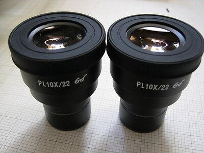 Pair Of Soptop Pl10x22 Widefied Eyepieces Fits Zeissleicanikonolympus 30mm