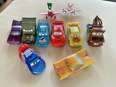 Disney Pixar Cars Lot of 10 Plactic Cars and Planes EUC