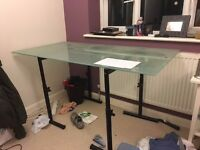 Large Frosted Glass Desk / Table - FREE TO A GOOD HOME