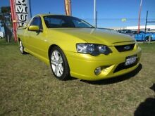 2007 Ford Falcon BF II XR6 Citric Acid Yellow 6 Speed Manual Utility Wangara Wanneroo Area Preview