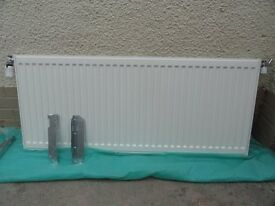 Single radiator 1200mm x 500mm TRVs and brackets included