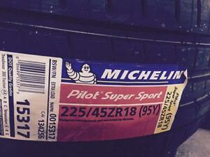 Brand New Michelin Pilot Super Sport 225/45R18 summer tires.