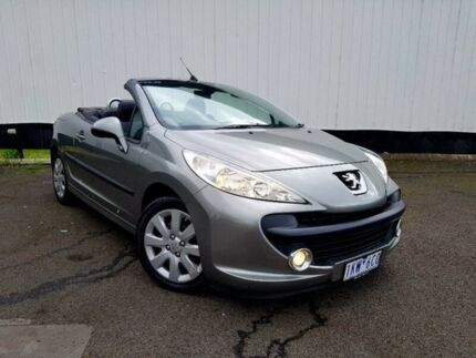 2007 Peugeot 207 A7 CC Grey 4 Speed Sports Automatic Cabriolet
