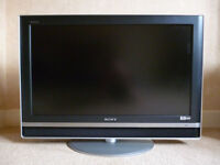 """Sony Bravia KDL-V32A12 - 32"""" Widescreen HD Ready LCD TV - With Freeview & Remote Plus Manual"""