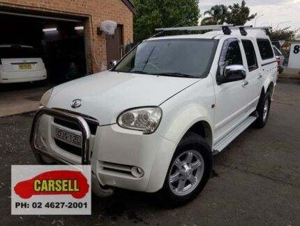 2009 Great Wall V240 K2 (4x4) White 5 Speed 5 SP MANUAL Dual Cab Utility