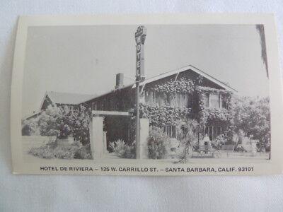 Vintage Black & White Picture Postcard Hotel de Riviera Santa Barbara California